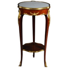 Classic Salon Side Table in Louis XV with Marble Top
