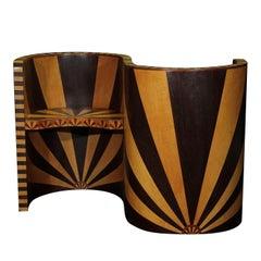 Art Deco Double Armchair by Mauro Varotti