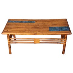 Bamboo and Ceramic Coffee Table