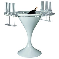 Cocktail Time Table Small with Glass Holder, LDPE, Indoor Use, Italy