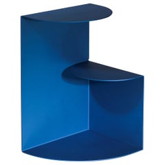Blue Bi-Level Anodized Aluminum Side Table by Hayo Gebauer - Customizable Color