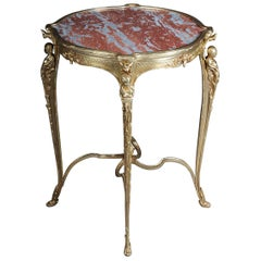 Magnificent French Bronze Pompom Table or Side Table to Zwiener, Napoleon III