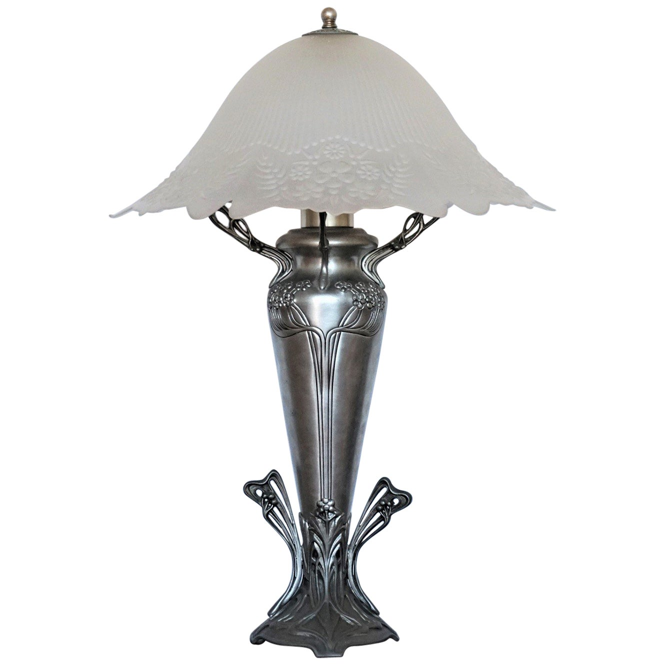 French Art Deco Vase Table Lamp, 1930s