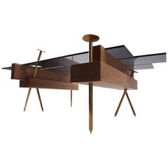 """Sculptural Table, """"Etabli"""" Signed by Pierre Philippe"""