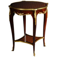 Beautiful Salon Side Table in Louis XV after F. Linke