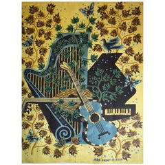 Jean Picart Le Doux Original Serigraphie on Fabric