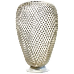 French 1950s Metalwork Vase in the Manner of Mathieu Matégot