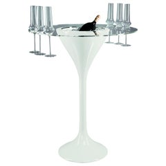 Cocktail Time Table Big with Glass Holder, LDPE, Indoor Use, Italy