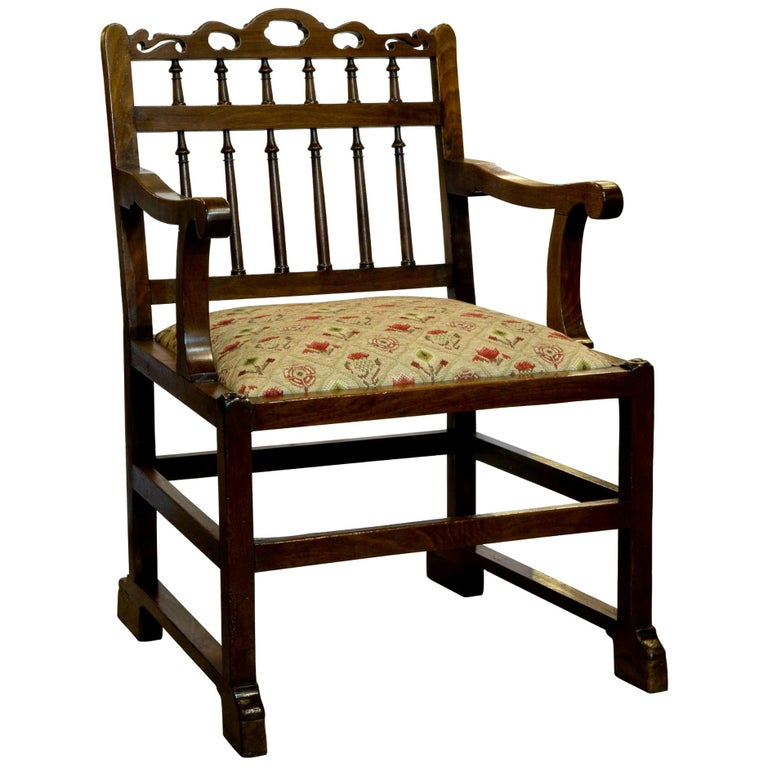 18th Century Mahogany Drunkards Chair For Sale