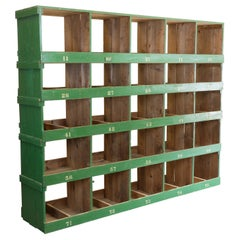 Very Large Victorian Pigeon Hole Unit, Storage, Shelving Unit, 5 Bay