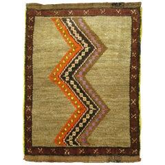Primitive Vintage Turkish Rug