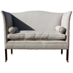 Edwardian Wingback Sofa Redesigned and Restored