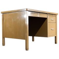 1940s Art Metal London Desk with Linoleum Top