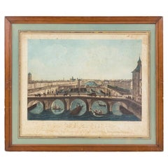Coqueret, View of Paris N°12, Color Print, Early 19th Century
