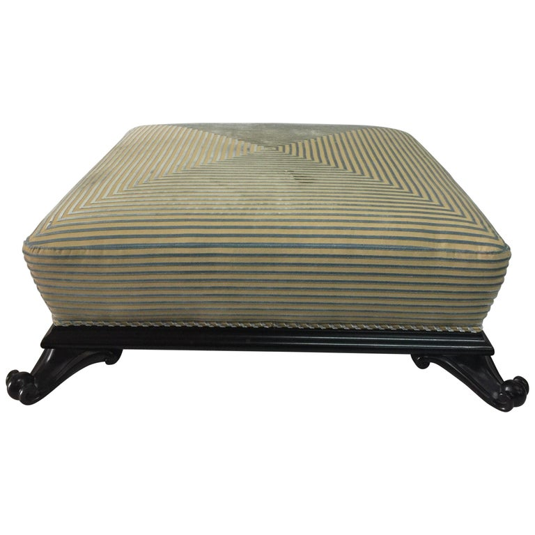 Large Low Ottoman by Baker Furniture For Sale