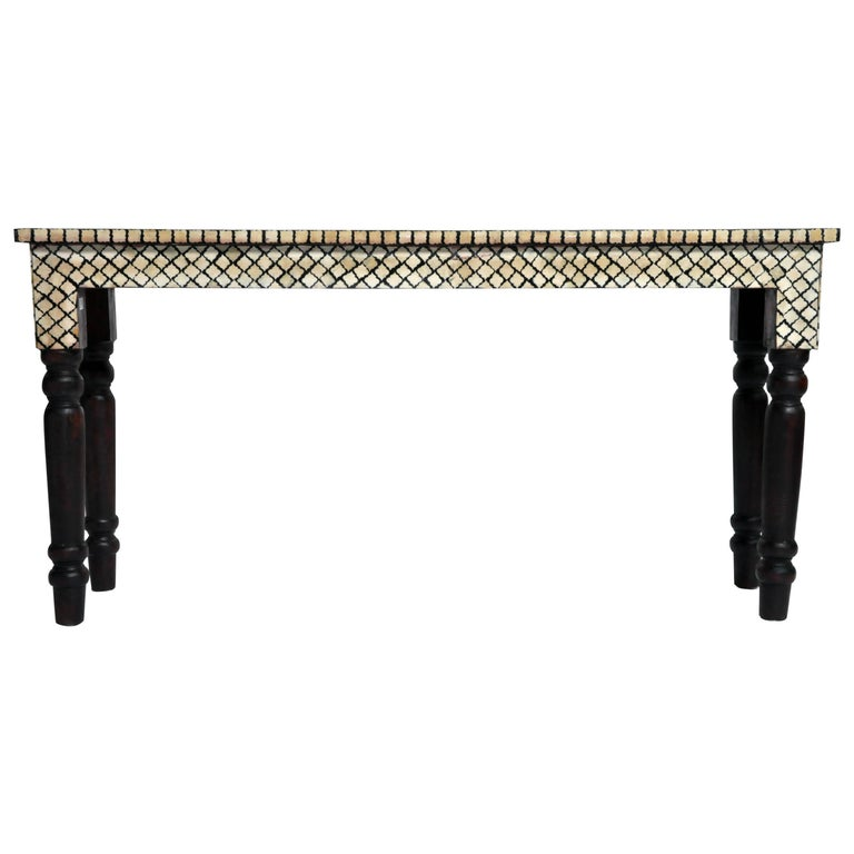 20cb4059c4f41 Bone Inlay Console Table For Sale at 1stdibs