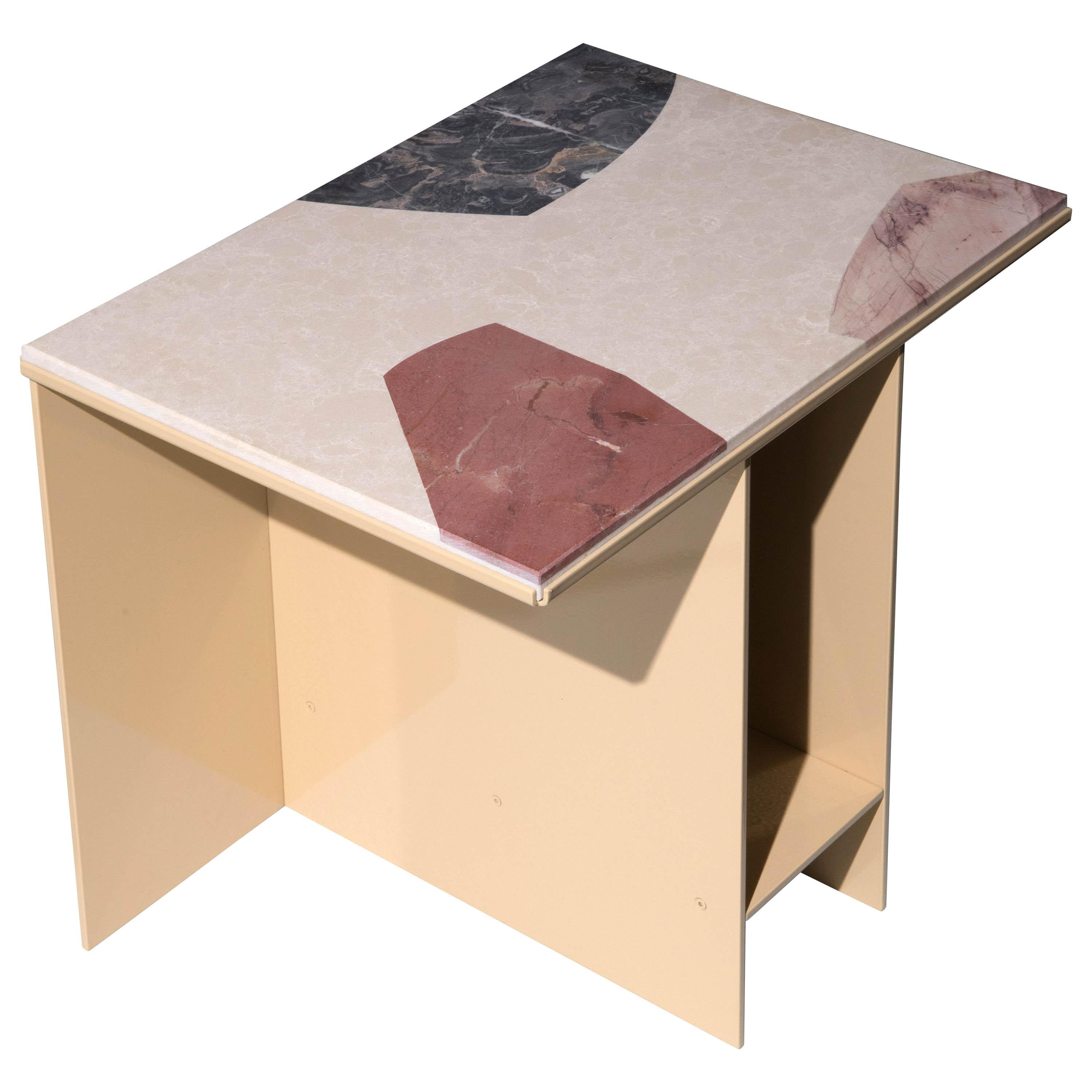 Marble-Topped Cut-Out Uniform Side Table by Other Kingdom