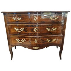 19th Century Napoleon III Walnut and Bronze Italian Chest of Drawer