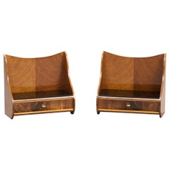 Danish Mid-Century Modern Bedside Tables, One Pair