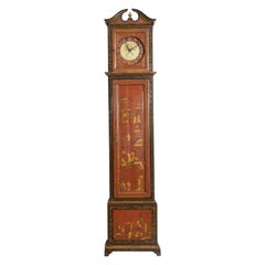 Continental Chinoiserie Paint Decorated Case Clock, Late 18th-Early 19th Century