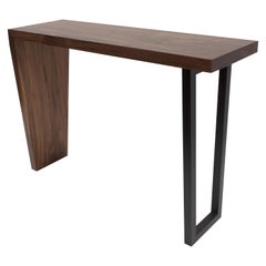 Contemporary Hardwood Waterfall Console Table