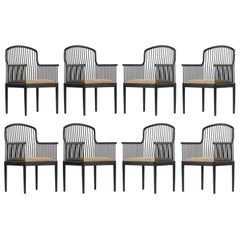 """Set of Eight Tan Davis Allen """"Andover"""" Chairs for Stendig"""