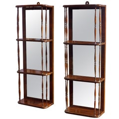 19th Century Regency Small Rosewood Hanging Wall Shelves