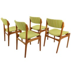 Set of 4 Erik Buch Model-49 Teak Dining Chairs for Odense Maskinsnedkeri, 1960s