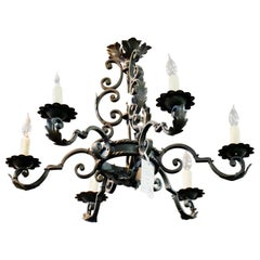 French Handwrought Chandelier, circa 1930