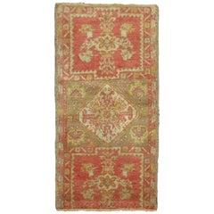 Pink Red Antique Turkish Sivas Mat