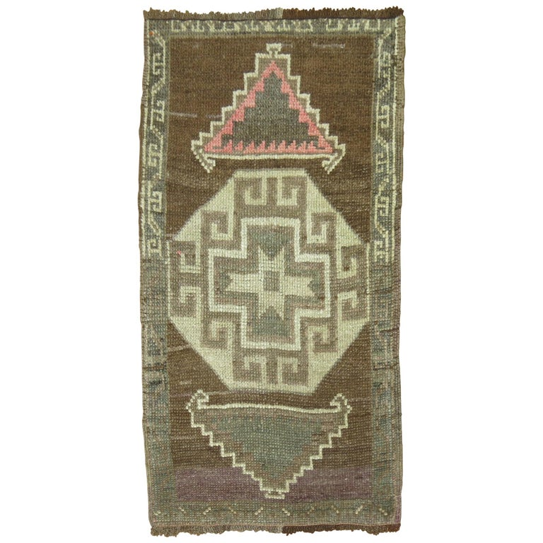 Turkish Tribal Rug Mat For Sale
