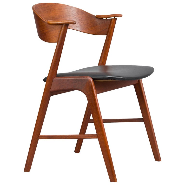 Danish Midcentury Armchair by Kai Kristiansen for Korup Stole Fabrik, 1950s For Sale