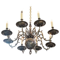Arm Silver Plated Chandelier, circa 1920