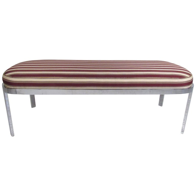 Contemporary Modern Upholstered Bench For Sale