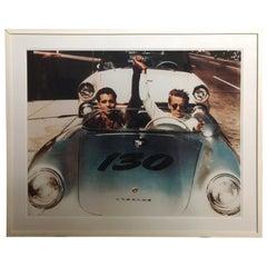 James Dean and Rolf Wutherich in Porsche 550 Spyder