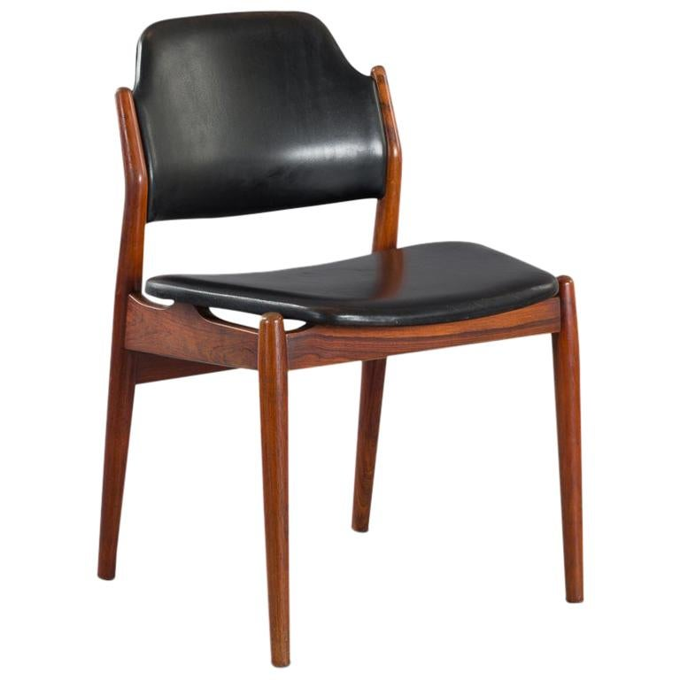 Danish Chair Model 62 by Arne Vodder for Sibast Furniture, Rosewood and Leather For Sale
