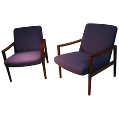 Pair of Mid Century Scandinavian Modern Lounge Chairs Ulferts Sweden