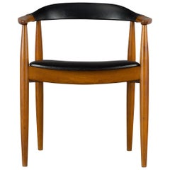 Danish Armchair in Elm Wood by Illum Wikkelsø for N. Eilersen, 1960s