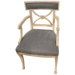 Schumacher Westminster Armchair in Jamison Black Fabric- Sample
