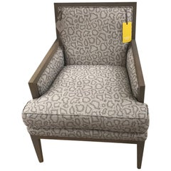 Schumacher Chanaux Armchair Upholstered in Park Avenue Python Fabric- Sample