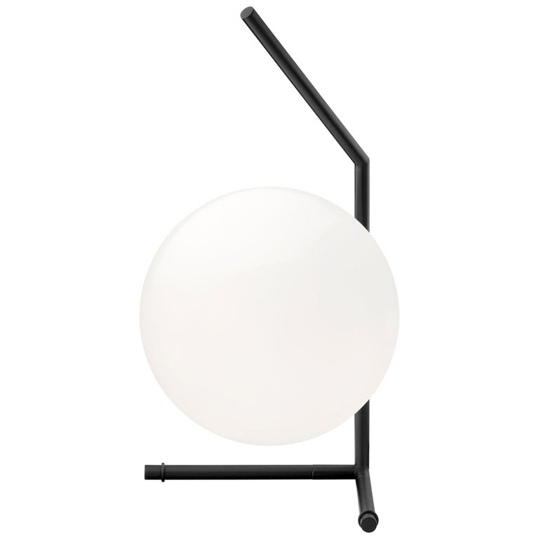 FLOS IC Lights T1 Low Table Lamp in Black by Michael Anastassiades For Sale
