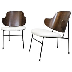 Pair of Danish Modern Ib Kofod Larsen Selig Penguin Chairs
