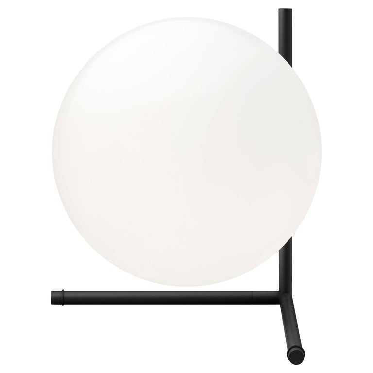 FLOS IC Lights T2 Table Lamp in Black by Michael Anastassiades For Sale