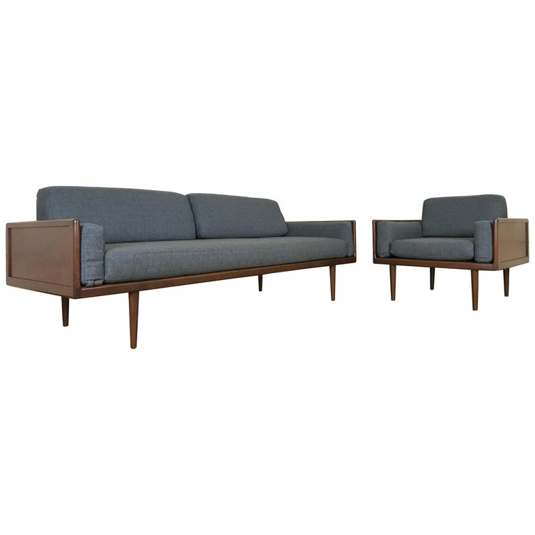 Minimalist Sofa and Lounge Chair by Mel Smilow for Smilow-Thielle For Sale