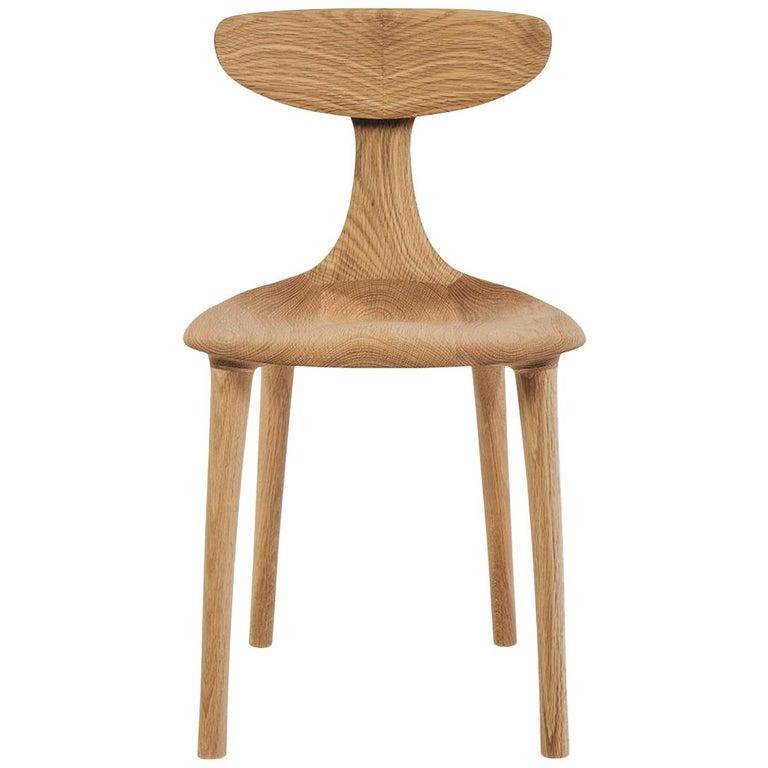 Sculptural Miranda Chair in White Oak by Matthew Sellens of SylvanRay For Sale