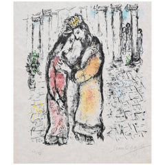 "Marc Chagall ""David and Bathsheba"" Lithograph, Signed"