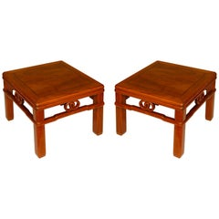 Pair of Michael Taylor Style Asian Low Tables