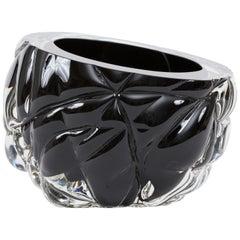 Black 'Cut' Vase - New York