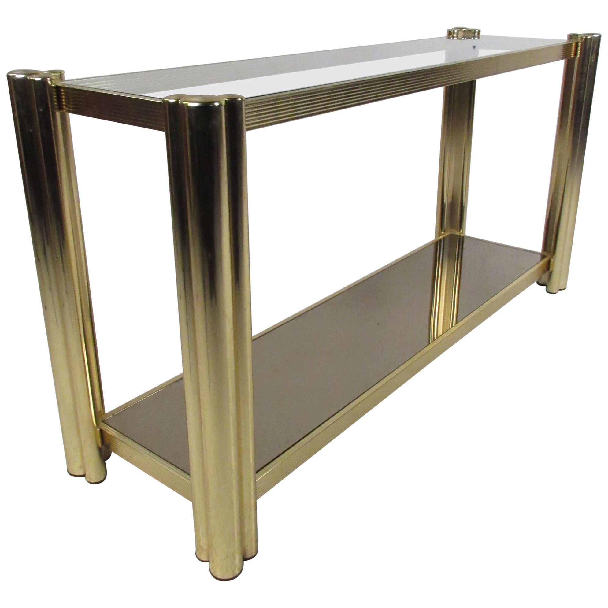 Mid-Century Modern Two-Tier Console Table