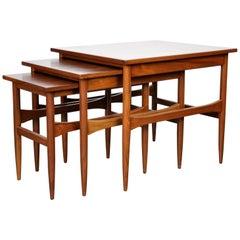 Set of Mid-Century Modern Walnut Nesting Tables